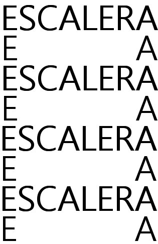 caligramas escalera